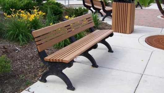 3425Cambridge 8 Foot Backed Bench 