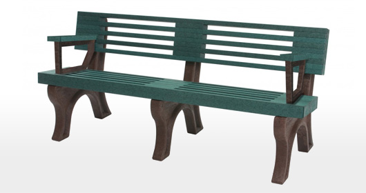 Elite 6 Foot Backed Bench With Arms