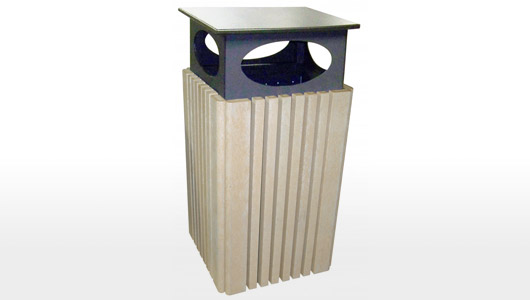 40 Gallon Trash Receptacle with Rain&nbsp;Cap