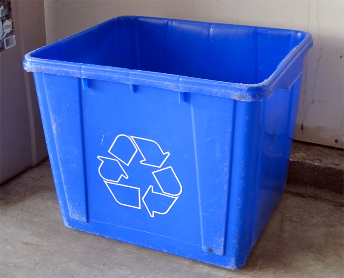 Are Recycle Bins Always Big Ugly And Bright Blue