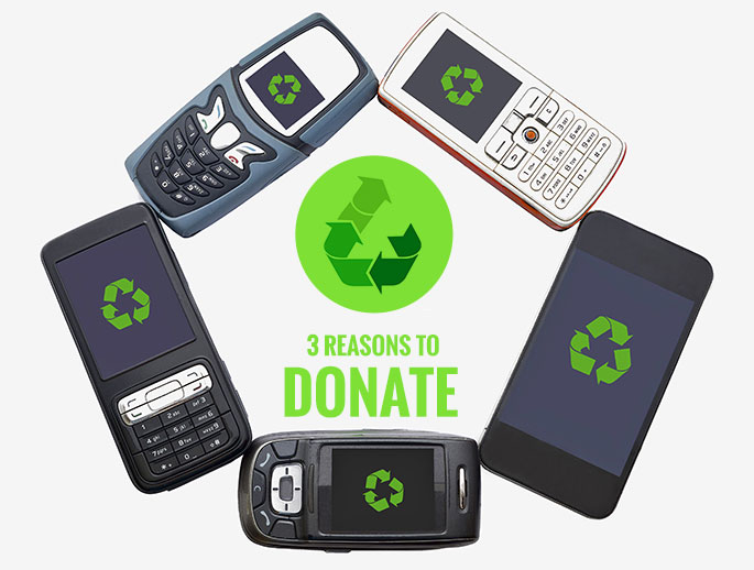 3 reasons why you should donate your old cell phone. Black Bedroom Furniture Sets. Home Design Ideas